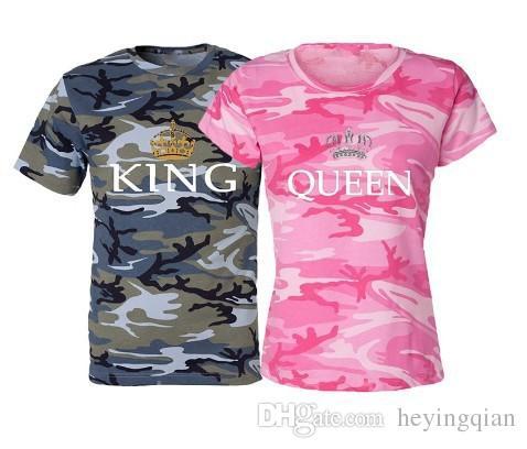 Les amoureux de la mode estivale 2018 t-shirts camouflage cultivent leur moralité T-shirt à manches courtes T-shirts grande taille femme