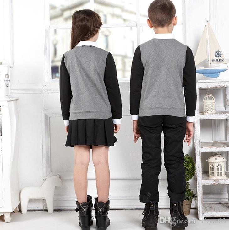 2019 MELODY YOUNG#035 England Style Children School Uniform Boys Girls Kids  Kindergarten Dress Clothes Set Shirt Skirt Pants From Inkpai03, $18 1 |
