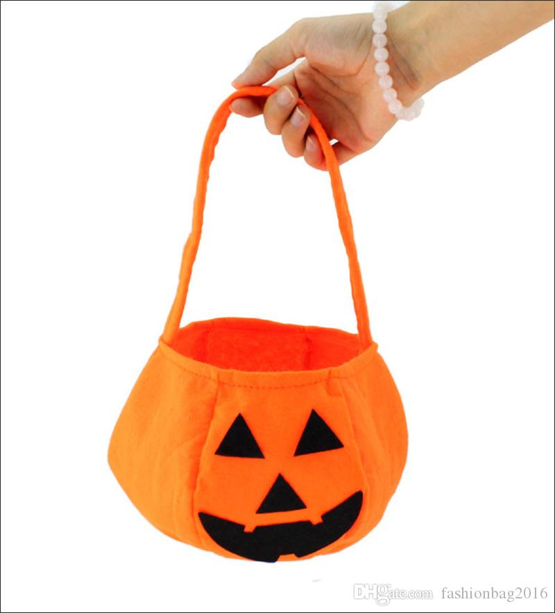 12PCS Halloween pumpkin Bag Children Candy Basket Masquerade Party Performance Props Party Supplies