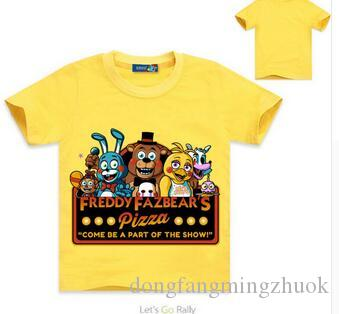 55fd583851aae 2019 Boys Clothes Cartoon Children T Shirts Five Nights At Freddy'S Girls  Clothing Kids Clothes Boys T Shirt 5 Freddys Tops Girls From ...