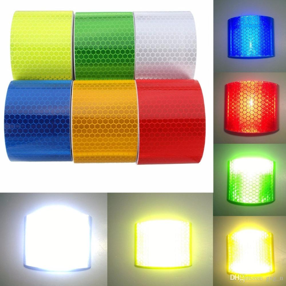 Red and Yellow car stickers 5x300 cm Reflector Car Styling Trucks Motorcycle Safety Tape Warning Tape Material Safety Quality