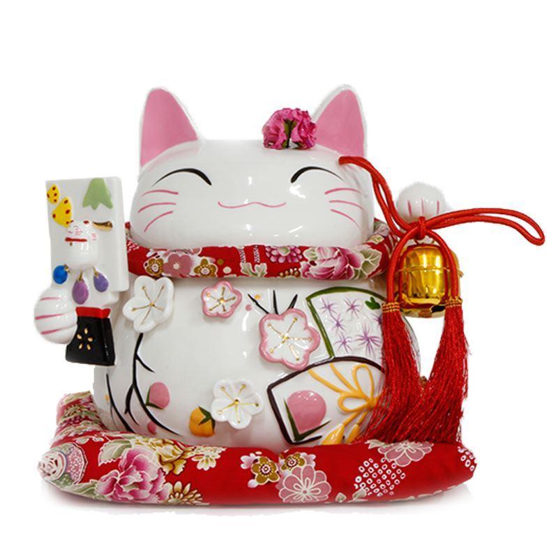 La vera ricchezza autentica di China Cat Japan fa grandi ornamenti in ceramica per gatti / regalo di affari / vacanza