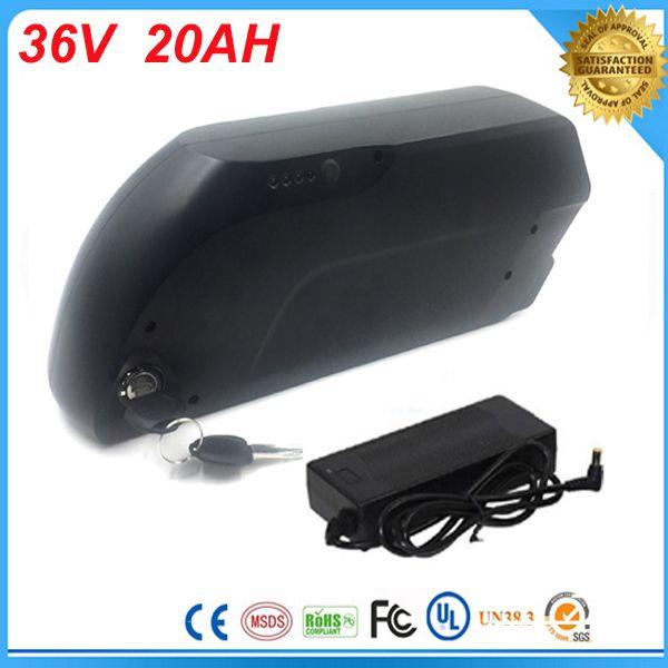 Батарея велосипеда Tigershark 36V 20Ah 1000W блока батарей Ebike Li-Иона электрическая для e-велосипеда с портом USB 5V и заряжателем +bms для клетки Samsung