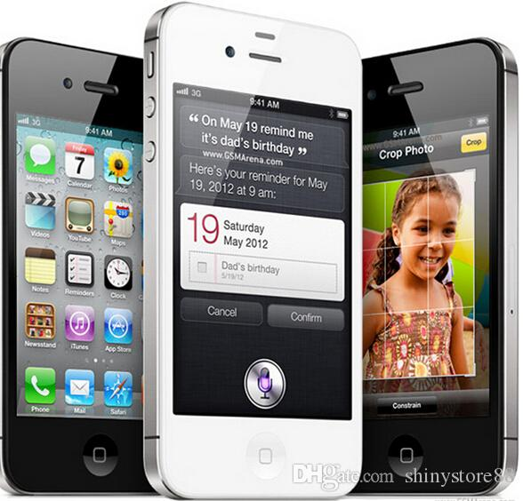 Refurbished 100% Original Apple iPhone 4S Unlocked Cell Phone Dual Core 64GB/32GB/16GB 3.5inch Screen 5.0MP