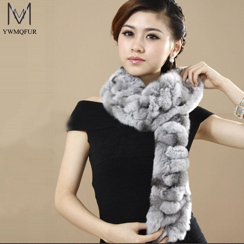 Wholesale-2016 New genuine fur scarves quality fur scarf for women wholesale retail with free shipping MC002 Scarves
