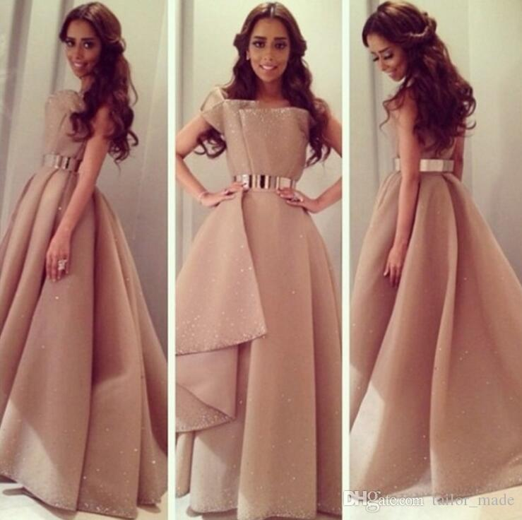 Champagne Ball Gown Evening Dress Prom