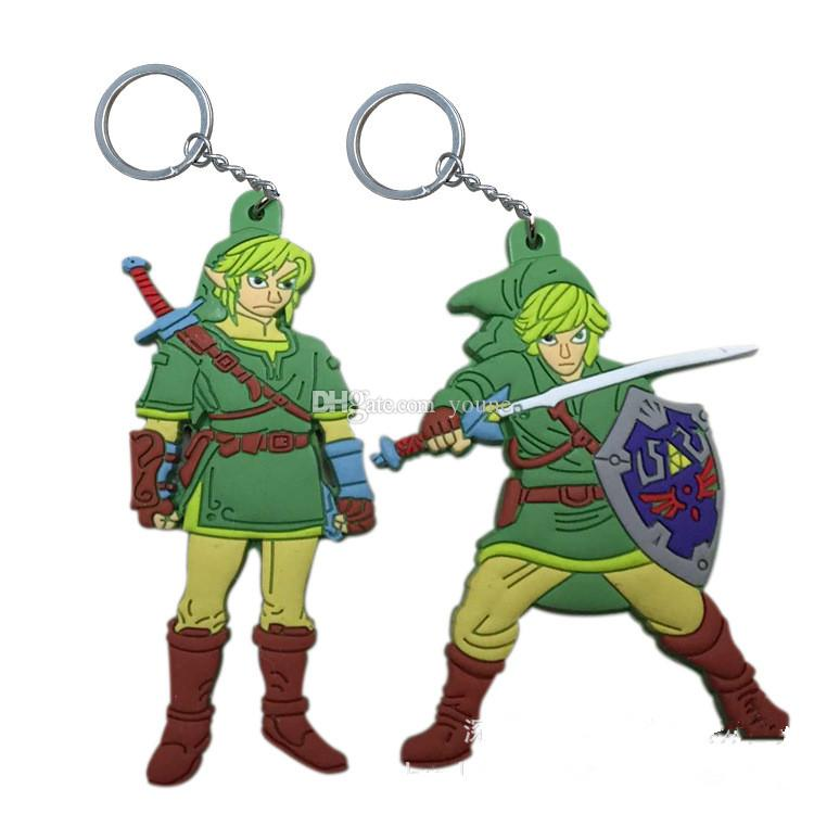 New Arrivals! 20PCS The Legend of Zelda Keychain Character PVC Figures Key Chains Toy Kids Gift Christmas gifts Legend of Zelda