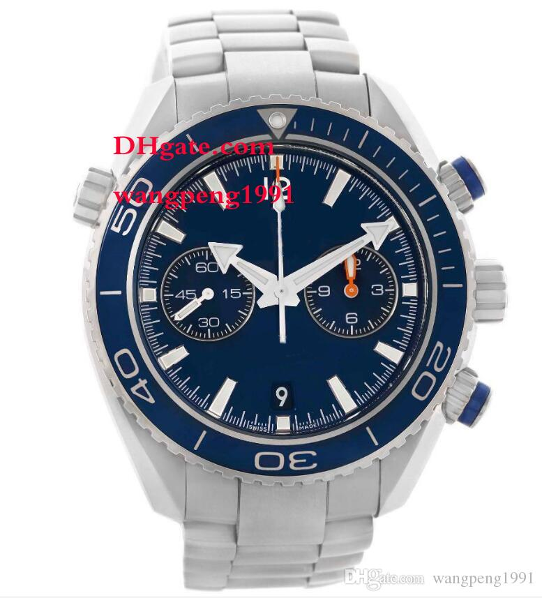 mens high quality Watch Stainless Steel Bracelet Blue dial 232.90.46.51.03.001 45mm Automatic Mens Watch Watches