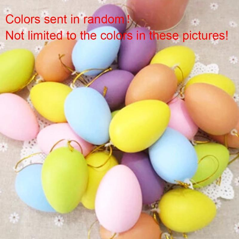 12/Set Funny Colorful Educational Kids Pretend Play Toy Set Solid Color Easter Egg for Easter Day and Children Printing
