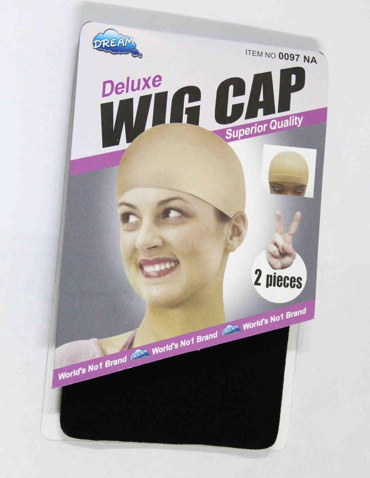 2pcs Unisex Nylon Bald Perücke Haar Mütze Strumpf Liner Snood Mesh-Stretch Nude Beige