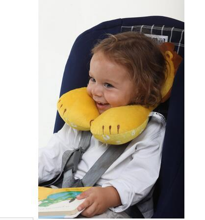 4 8years old kids neck pillow u shaped travel pillow cartoon animal child car