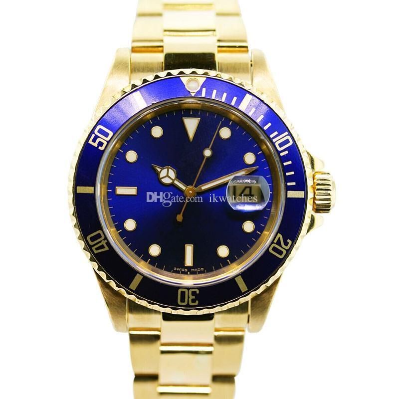 핫 판매 남성 새로운 패션 남성 시계 기계 시계 남성 자동 스틸 시계 R44를보고