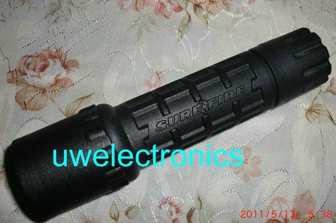 مصباح يدوي أسود TORCH كري R2 300LM أوفي SURE UltraFire لG2 6P P60 الأسود BK الجسم تكتيكي صياد مصباح يدوي 16340 RCR123A مجموعة شاحن بطارية