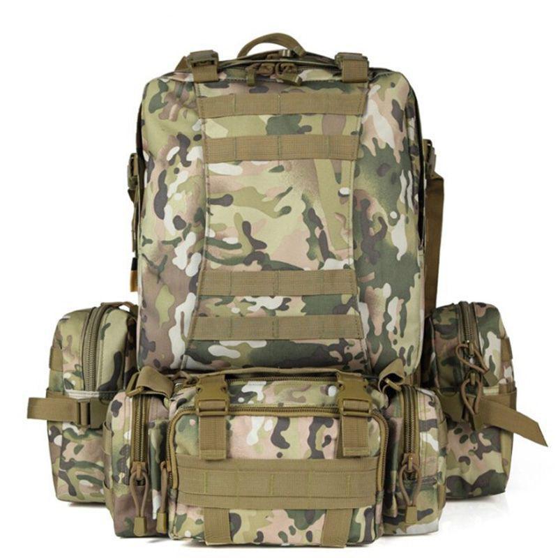 SINAIRSOFT 50L Molle высокая емкость мешка нейлон тактические рюкзаки штурмовые рюкзаки рюкзак кемпинг охота Спортивные сумки LY0017