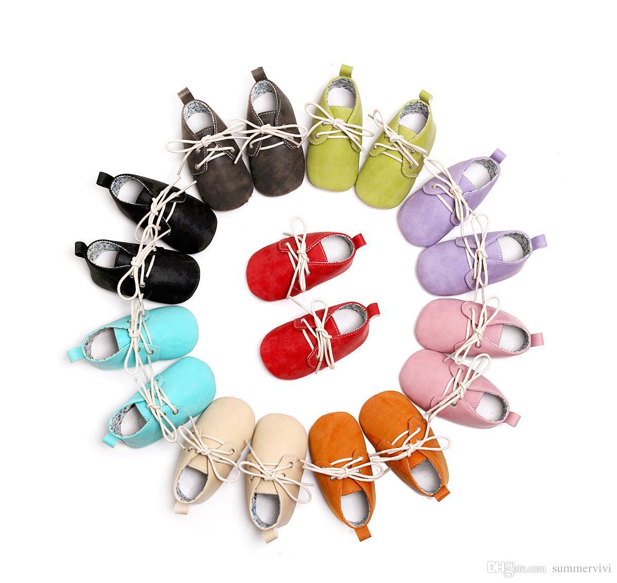 revestimento da criança sapatos de crianças meninos floral impresso PU carta atam-up meninas macio bebê sapatos casuais caminhantes primeiro ajuste sapato 0-30M A2505