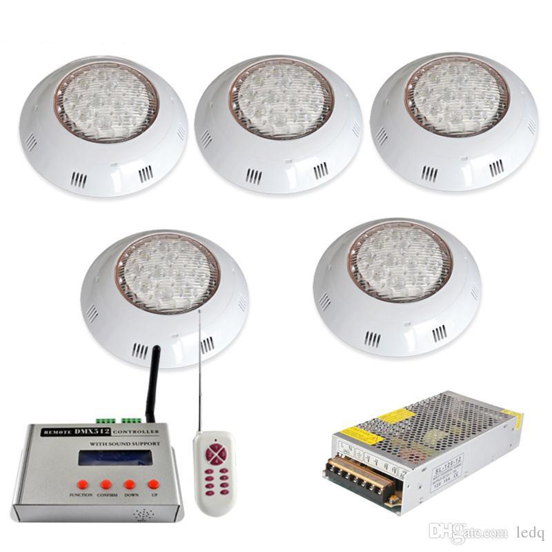Großhandel DMX RGB Unterwasser LED Pool Lampe Wandhalterung Pools Licht  Piscina Für Brunnen Spa 36 Watt + DMX512 Fernbedienung + 12 V Netzteil Von  ...