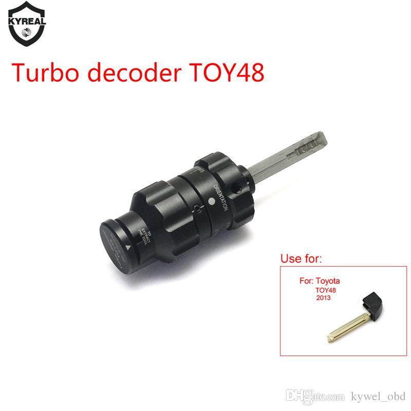 2017 أحدث Tur48 Decoder Toy48 لتويوتا ، سيارة Dooer فتاحة قفل أداة بيك ، أدوات TOY48 Turbo Decoder فك الأقفال