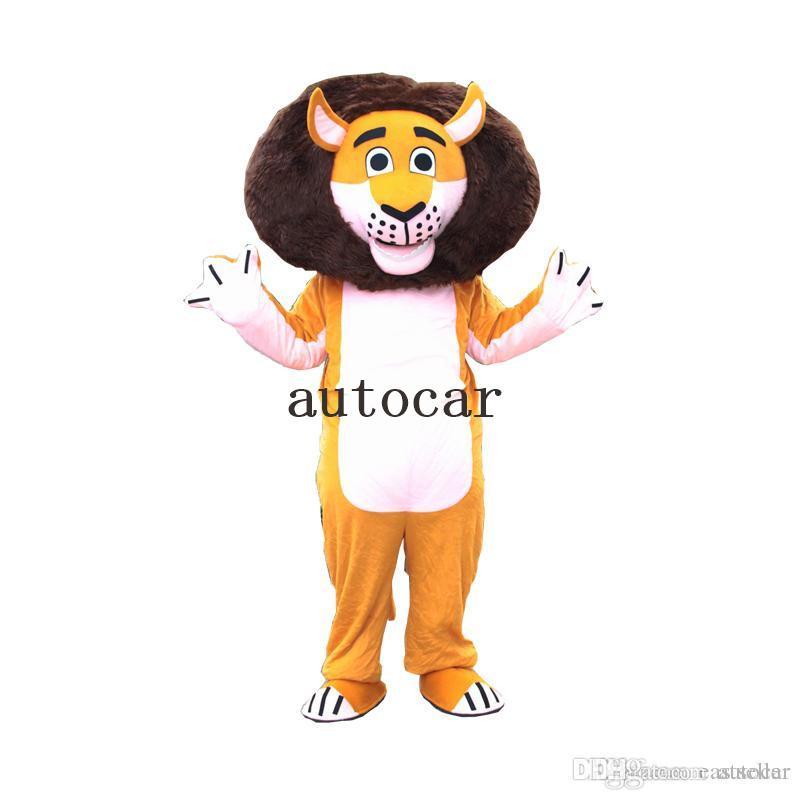 Hot Adult Size ferocious Animal Lion Cartoon Mascot Costume Party Fancy Dress Free Shipping Big High Quality Furry Polar