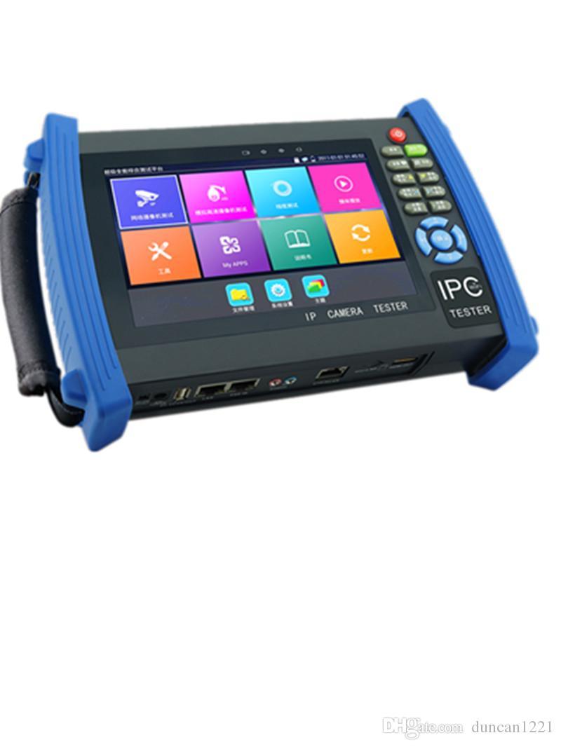 7Inch H.265 4K IP CCTV Tester Monitor IP TVI AHD CVI Analog Camera tester 8MP 5MP PTZ control 12V2A output wire tracer ONVIF