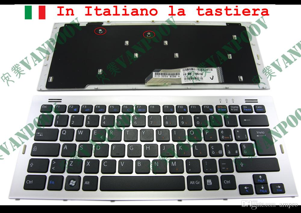 New Laptop keyboard FOR Sony Vaio VGN-SR Series (with Silver Frame) Black Italian IT Version - 148090151