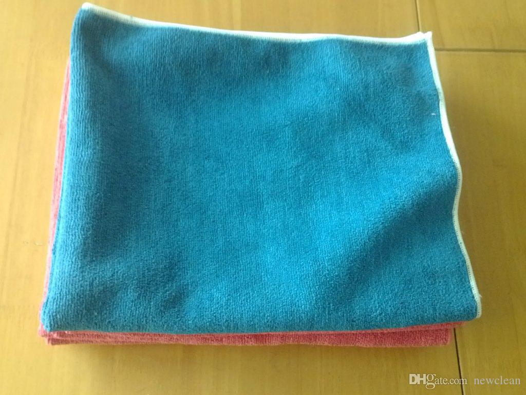 50x60cm 400gsm Mikrofaser Auto sauberes Handtuch Bodentuch aus Mikrofaser Detaillierung Polieren Scrubing Waxing Tuch Handtuch Schwer Handtücher Schiff frei