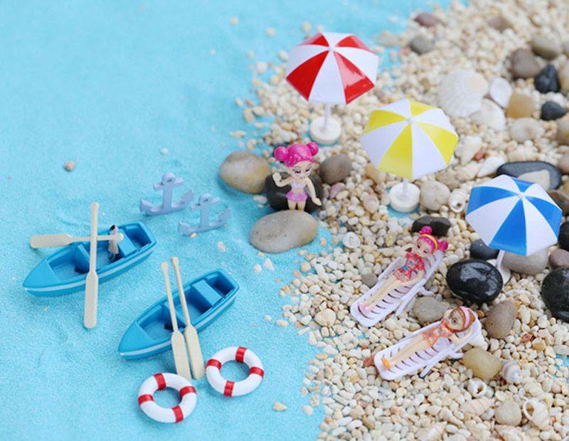 1pcs Bikini Sailing Boat Fairy Garden Miniatures Resin Craft Terrarium Figurines Tonsai Tools Gnomes Zakka Dollhouse Toys Home Accessories