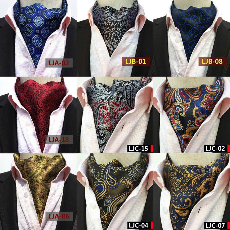 Mens Classic Paisley Floral Scarves Cravat Ascot Wedding Gentlemen Neckties New