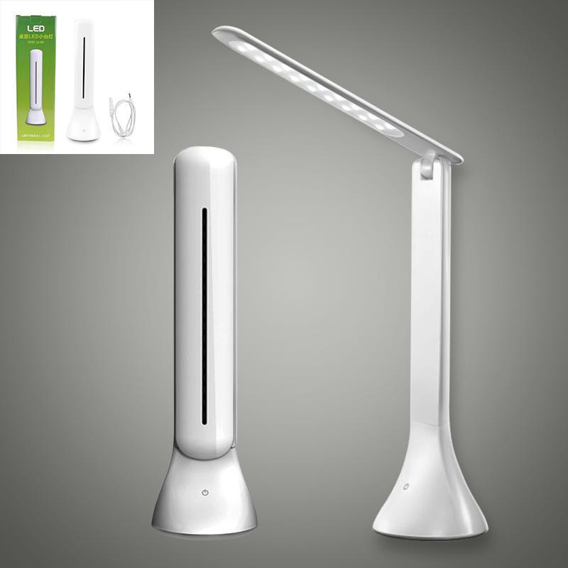 Lampe de bureau à LED Dimmable Touch Livre Lumière USB Charge Lecture Lampe Chargeable Lampe de table Portable Portable Pliage Lampe GTTL04