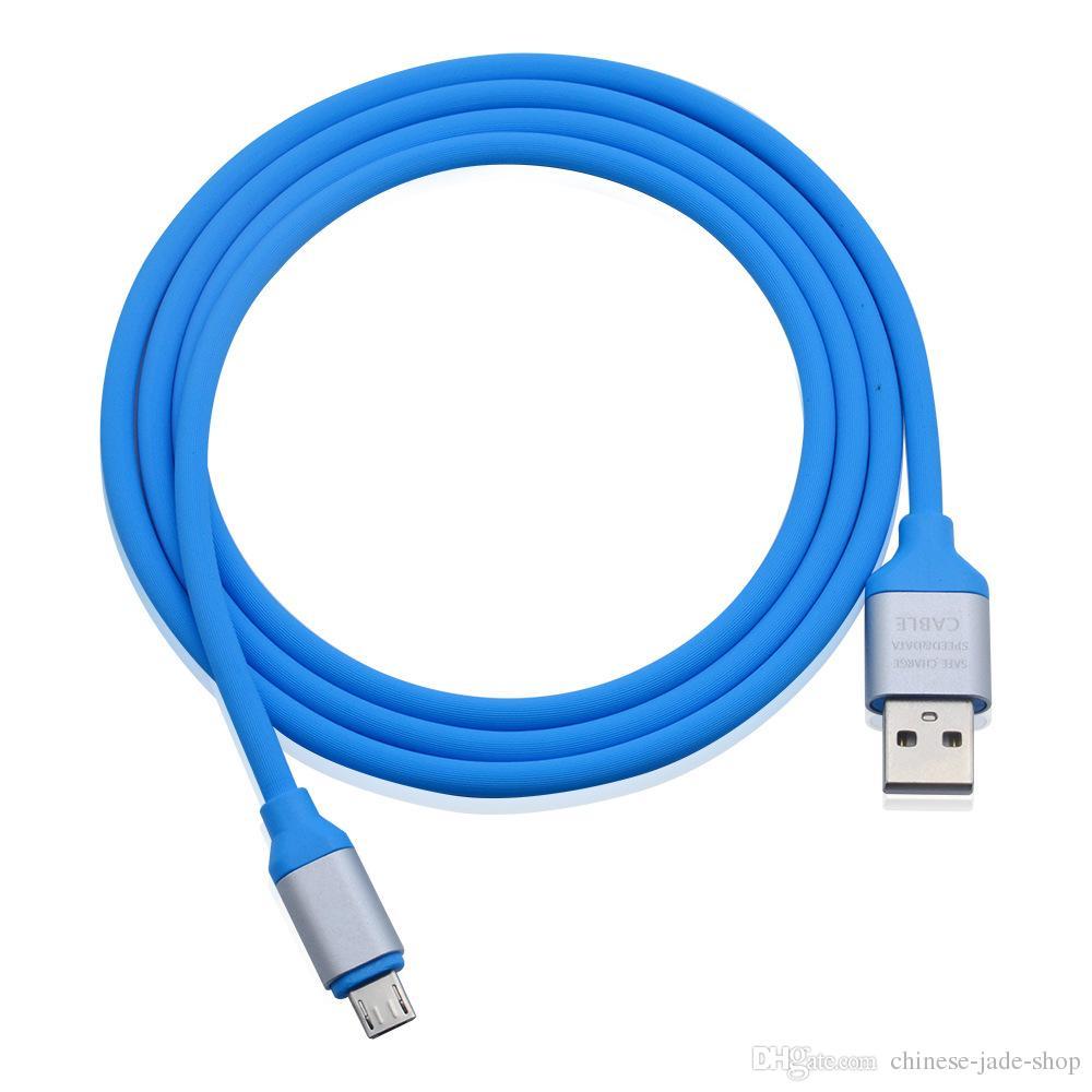 1M 2A velocidad de carga OD 4.0 Adatper metal suave TPE elástico micro USB tipo C cable de sincronización de datos para Móvil
