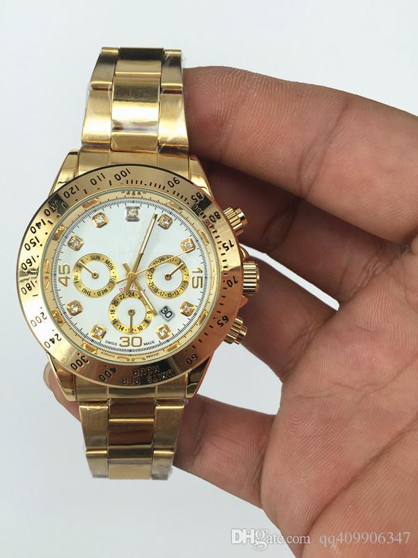 여성 디자이너 시계 고급 여성 고급 브랜드 고급 패션 브랜드 핑크 레이디스 골드 시계 달력 화이트 다이얼 여성 시계