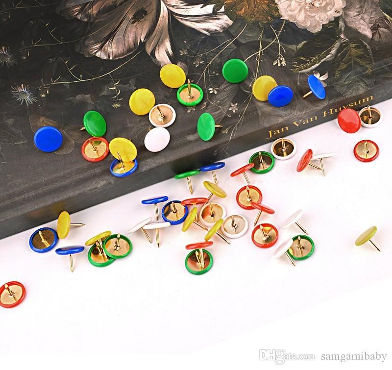 300 جهاز كمبيوتر شخصى / مجموعة الإبهام المسامير الرسم الملون دبابيس اللون البلاستيك جولة رئيس الألوان الوردية مكتب دبوس طبعة، ودفع دبوس للمنزل، مدرسة