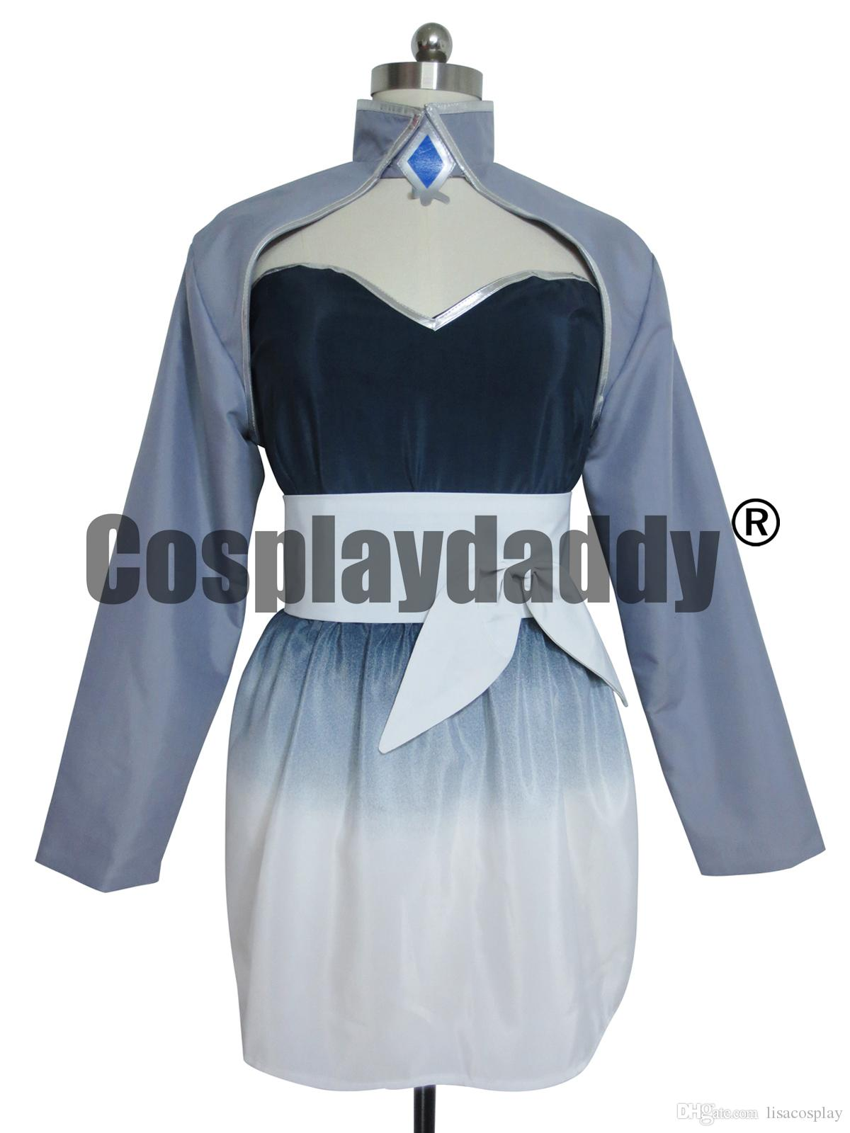 3529a354f6cbf Anime RWBY Weiss Schnee Girls Party Dress Cosplay Costume Cosplay Coat  Cosplay Low Cost From Lisacosplay, $96.45  DHgate.Com