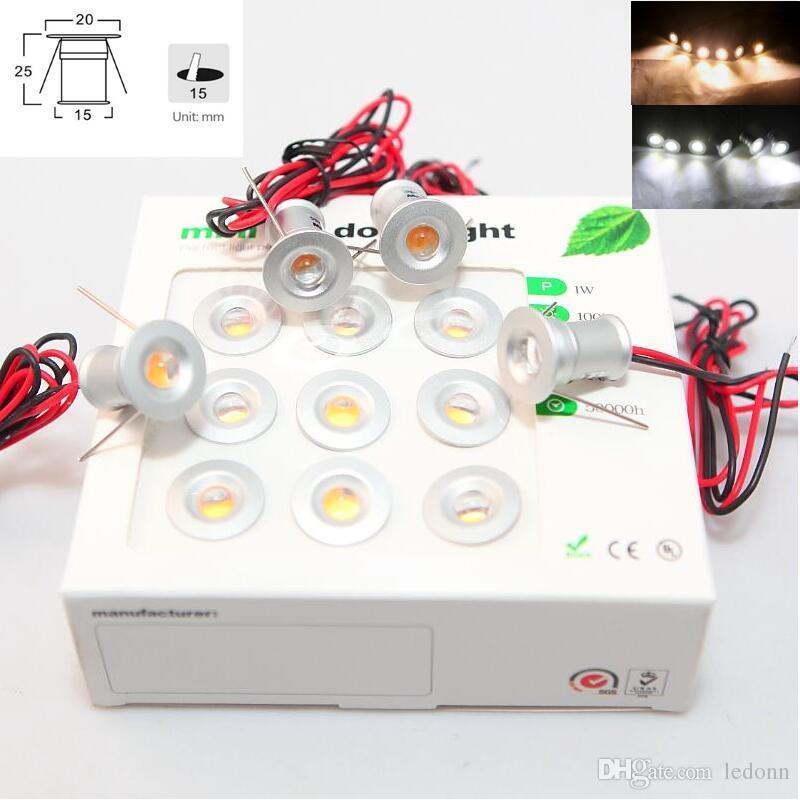 9pcs / set 1W Super Mini spots LED DC12V IP65 LED escalier enterré escalier encastré lumières mini downlight 3000 K 6000 K livraison gratuite 10 paquet