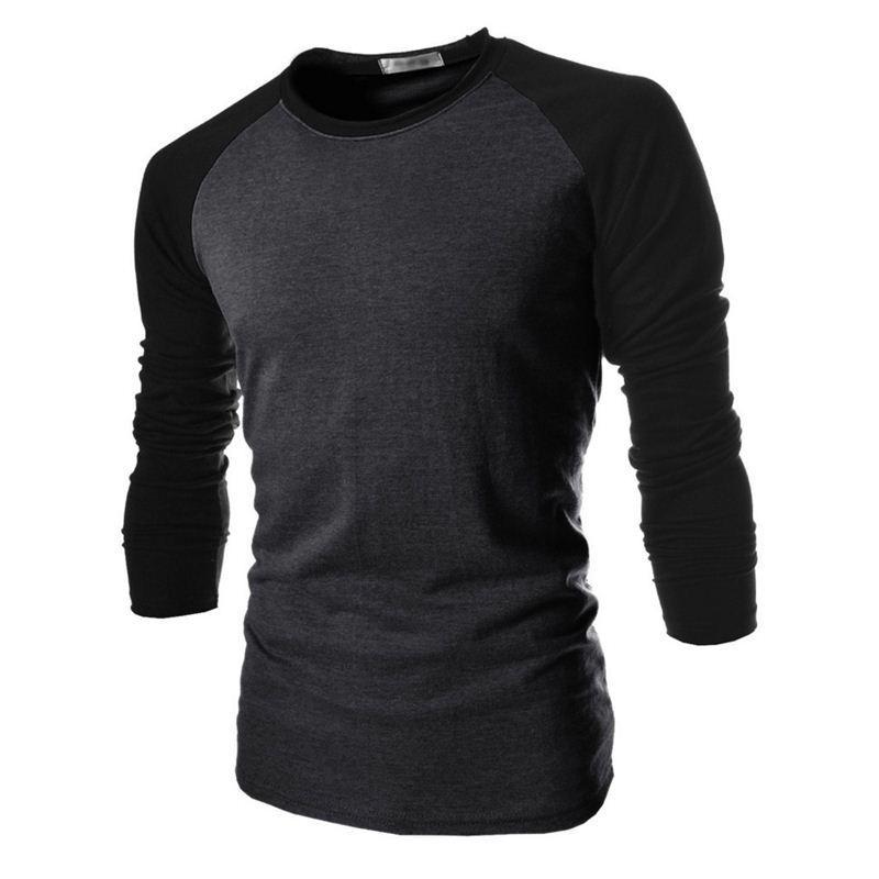 T Shirt Male 2016 Tshirt Mixed Colors Long-Sleeves Shirt Mens Brand T-Shirt Male Shirts Men Slim T-Shirt XXL