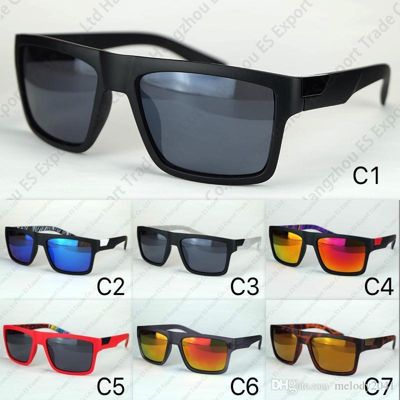 7 Colors Sports Sunglasses The Danx Driving Goggles Reflective Lenses Inside Temples Printing Wholesale Sun Glasses Fox