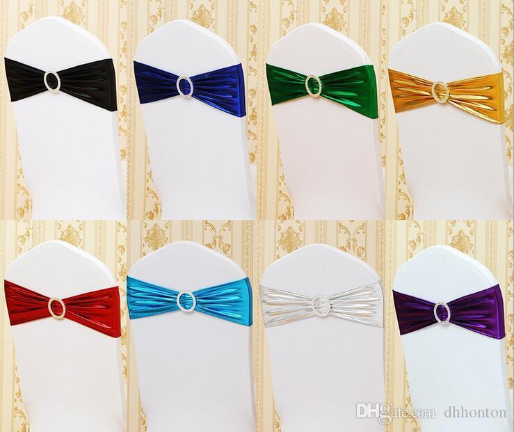 Sedia Sash Cover Band Banquet Party Decoration all'ingrosso spandex stretch la farfalla copertura telai coprimuro consegna veloce WT058