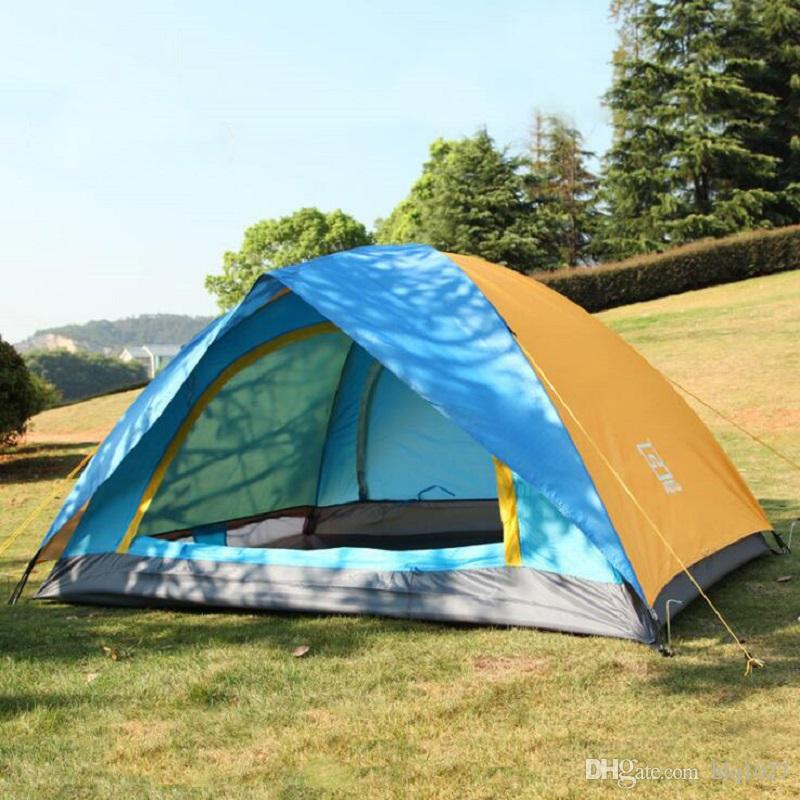 Outdoor Double Layer Rainproof Camping Tent Portable Beach Tent With Bag For 2 People Outdoor Sports Hiking Climbing Free Shipping