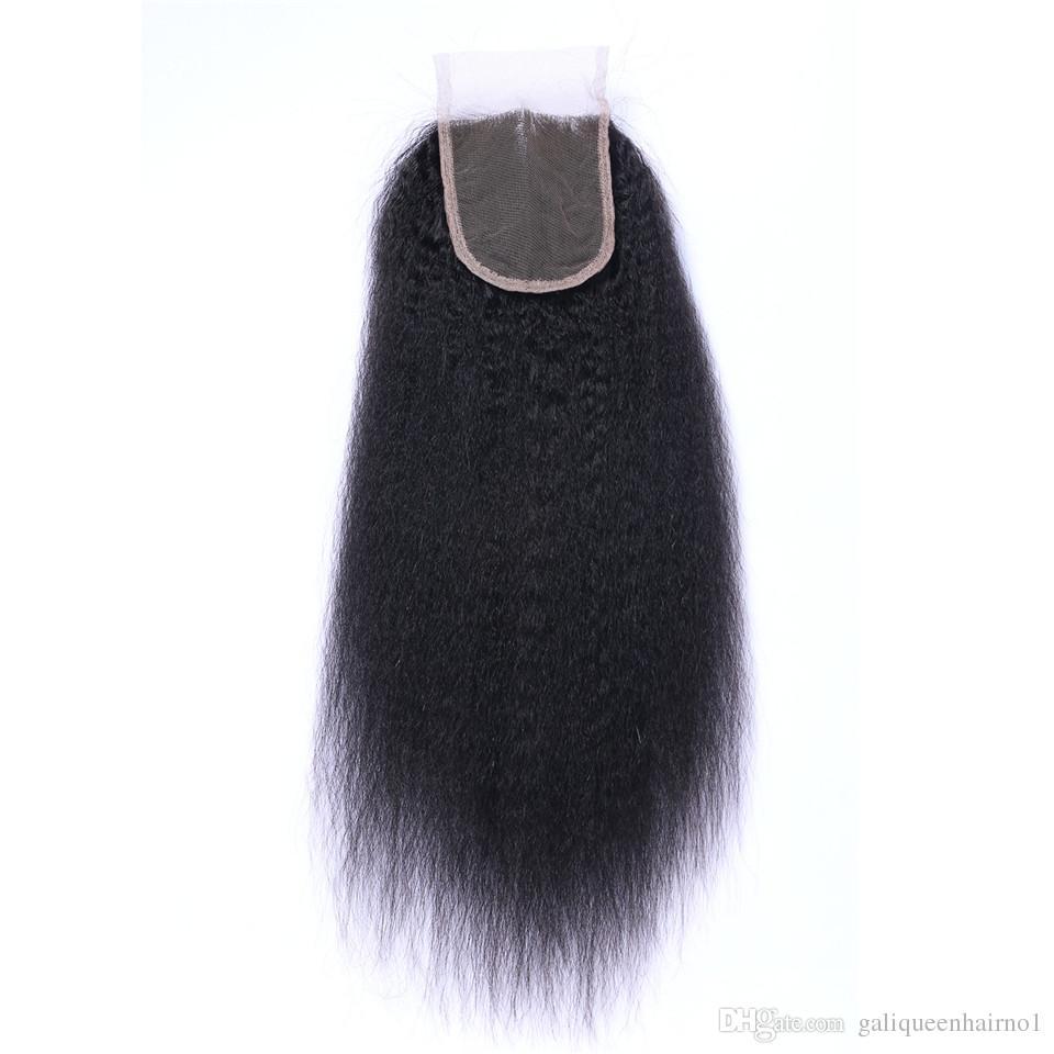 البرازيلي غريب مستقيم الشعر البشري الدانتيل إغلاق الجزء الأوسط الجزء 3 الجزء 4 × 4 الدانتيل أعلى إغلاق