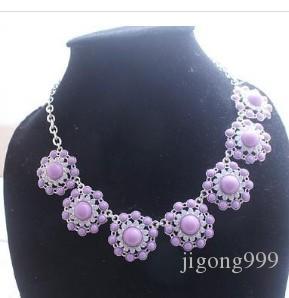 замечательное фиолетовое алмазное ожерелье кулона подсолнечника леди (xysppfh)