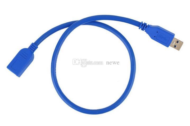 Audiokabel Universal 0,5 M USB-Verlängerungskabel USB 3.0-A-Stecker auf USB 3.0-A-Buchse Verlängerungsdaten-Synchronisationskabel Adapterstecker