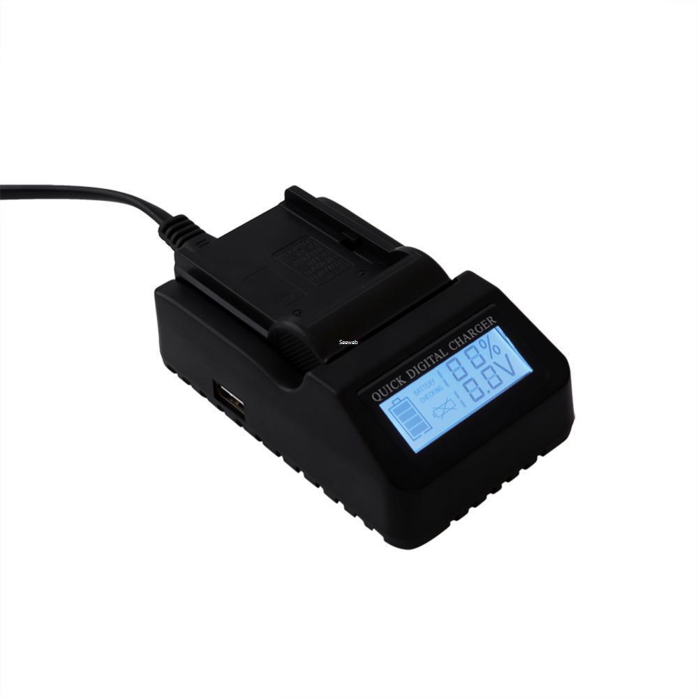 Freeshipping 소니 NP-F970 시리즈 카메라 배터리 충전기에 대 한 100-240V LCD 배터리 충전기