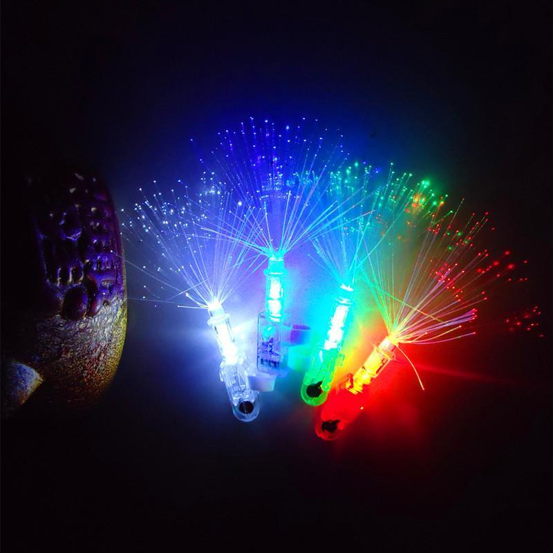 Optische Faser-LED-Laser-Licht-Fingerlampe neue Spielzeugring-Projektionslampe Stall