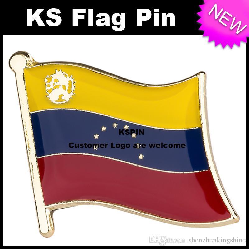 Pin 10pcs della bandiera del distintivo della bandierina del Venezuela molto Trasporto libero KS-0183
