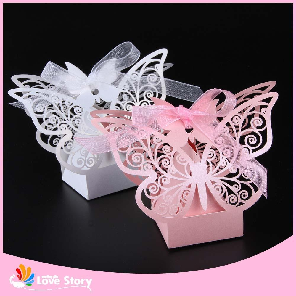 Butterfly Laser Cut Candy Box Wedding Favor Box Wedding Favors Gift ...