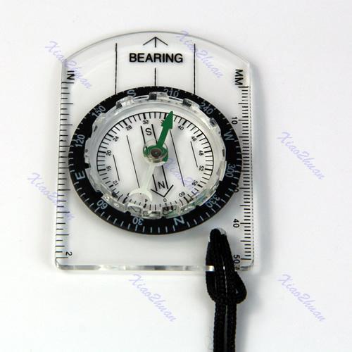 Wholesale-15pcs / lot Mini All in 1 Outdoor Wandern Camping Bauplatte Kompass MM INCH messen Lineal großes Werkzeug für ourdoor