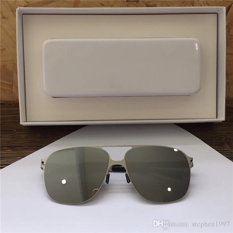 Neue Mykita Beliebte Sonnenbrille Pilot Frame Designer mit Spiegelglas Ultra Light Frame Memory Legierung Sonnenbrille mit Original Box