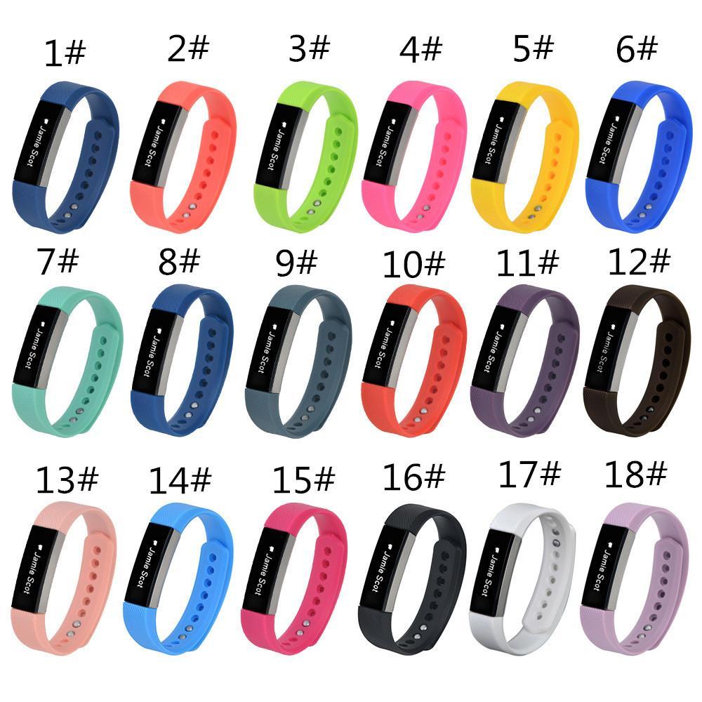 18 اللون 2018 أحدث سيليكون حزام سوار سوار المعصم ل fitbit ألتا سمارت ووتش لا تعقب l / s الحجم pk DZ09 u8