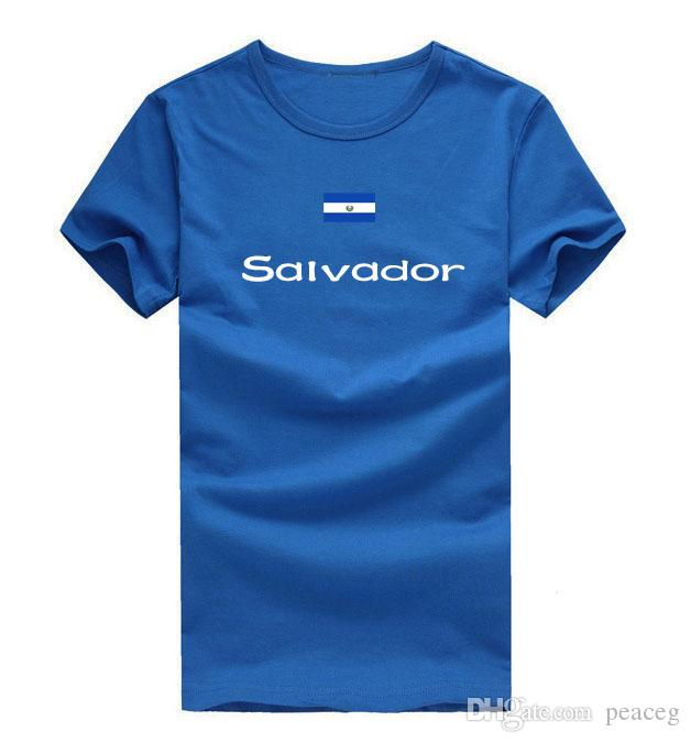 Salvador T shirt Great honors sport short sleeve Athletic meeting tees Nation flag clothing Unisex cotton Tshirt