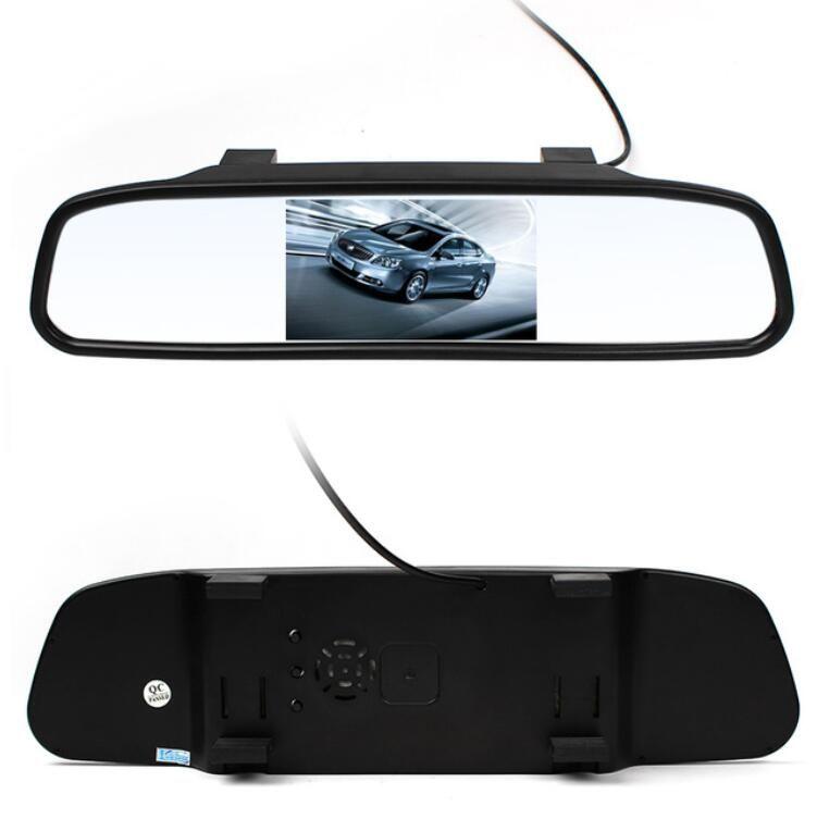 Hot 4.3 pollici Car Lcd posteriore Specchietto retrovisore Monitor telecamera CCD Video Auto Assistenza parcheggio LED Night Vision Inversione