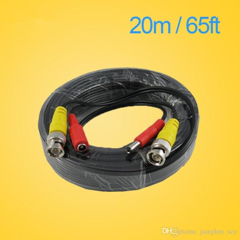 LLLOFAM 65FT 20M CCTV camera Cable BNC Video Power Coaxial Cable plug and Play Cable for Camera AHD DVR System CCTV accessories